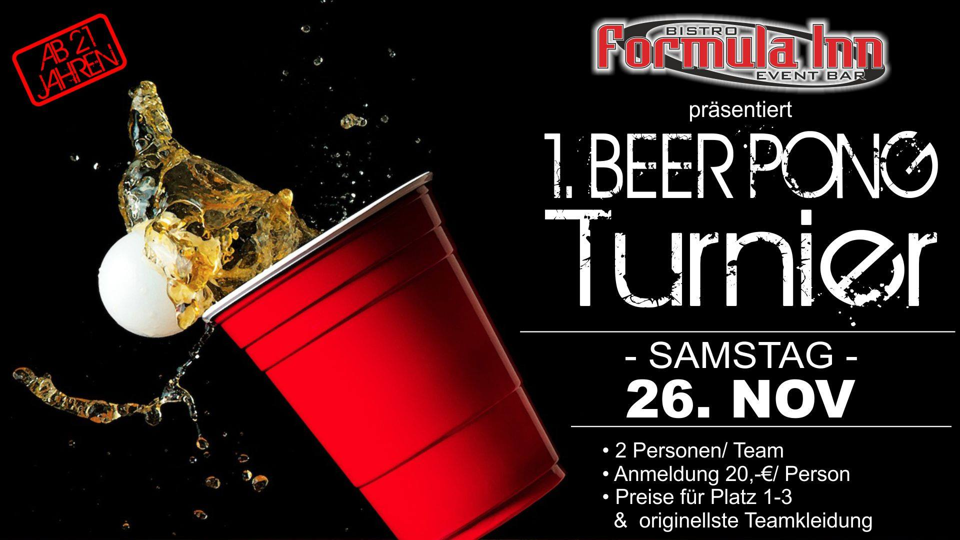 Beer Pong Turnier Plan